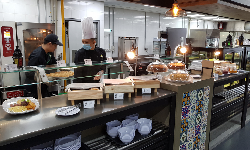 SHF Sky food operates at Air Asia RedQ Cafeteria